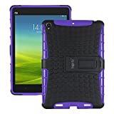 Heartly Flip Kick Stand Spider Hard Dual Rugged Armor Hybrid Bumper Back Case Cover For Xiaomi Miui Mi Pad 7.9 - Frame Purple