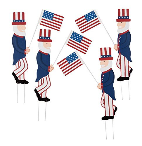 Fox Valley Traders Uncle Sam Metal Yard Stakes, Set/4 by Maple Lane Creations