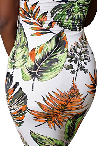 Womens Top Floral Midi Strapless Bela The Bodycon Dress Off Shoulder Imily Green Size Plus Tube qTg5wznw
