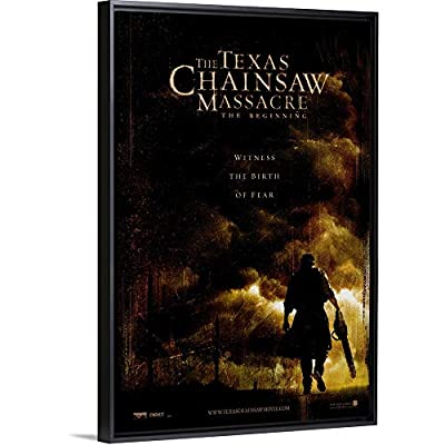 Floating Frame Premium Canvas with Black Frame Wall Art Print Entitled The Texas Chainsaw Massacre: The Beginning (2006)