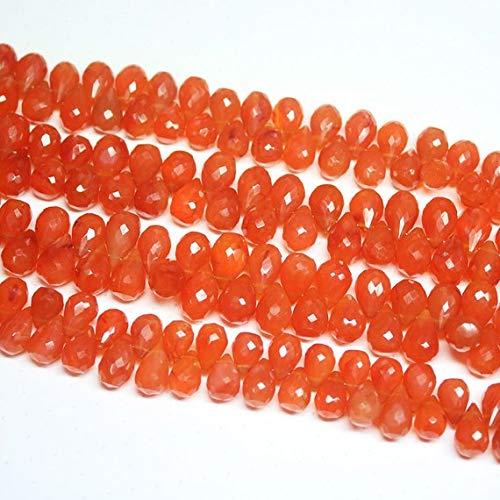 Pcs Gemstones DIY Jewellery Making Carnelian Smooth Nugget Beads 7-9mm Red 40
