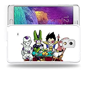 Case88 Designs Dragon Ball Z GT AF Son Goku Super Saiyan Vegeta Buu Freezer & Cell Protective Snap-on Hard Back Case Cover for Samsung Galaxy Note 4