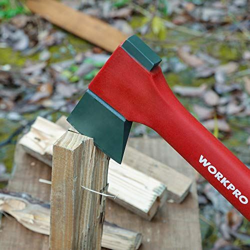 WORKPRO Camping Axe Saw Combo Kit - 14-inch Splitting Hatchet with Hand Saw Storaged in Handle, Molded Sheath Included by WORKPRO (Image #7)