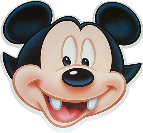 Disney Halloween Mickey Mouse Vampire - Card Face Mask - Licensed Product ()