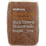 ダークブラウンマスコバド糖1キロ (Waitrose) - Dark Brown Muscovado Sugar Waitrose 1kg