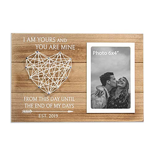 VILIGHT Bride Groom and Boyfriend Gifts - Engagement and Wedding Picture Frame - I Love You Gift - for 6x4 Inch Photo