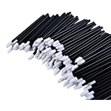 niceeshop(TM) 1 Bag (100pcs) Disposable Thin Black Handle Flocked Tip Wands Applicators for Lipstick/Lip Gloss