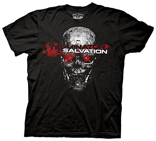 Ripple Junction Men's Terminator Salvation Red Eyes T-Shirt,Black,Medium (Salvation Eyes Red Terminator)