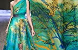 Pure Silk Chiffon Fabric - 100% Silk Cloth Elegant Semi-Transparent Scarf Fabric Dress Cloth by The Metre