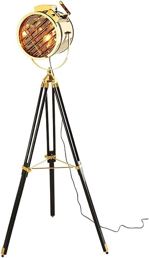 Lámpara de pie Tipo trípode de Estilo Industrial, lámpara de pie ...