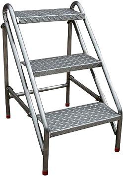 GBX Escalera Plegable, Minimalista Moderna Plegable de Acero Inoxidable de Heces - Escalera Simple Plegamiento Del Metal Espiga Portátil Subir Alto Taburete de Paso de Tres Duradero: Amazon.es: Bricolaje y herramientas
