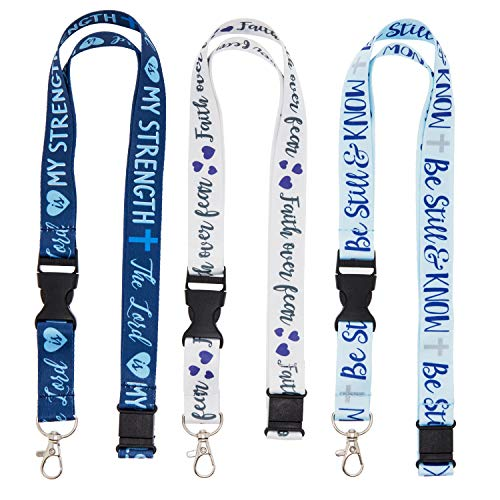 Juvale 6-Pack Religious Lanyards with Detachable Buckle, 3 Designs ()