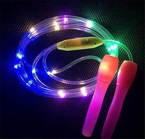 Glow pour Enfants Adultes Home Exercices Minceur Fitness Jeux Changement de Couleur Clignotant Corde /à Sauter Color/é Jouet Amusant L/éger Rouge LED Clignotant Light Up Corde /à Sauter