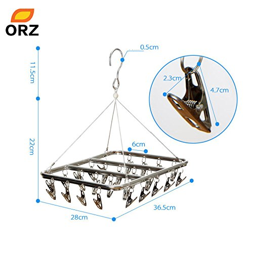 gogil 26 Clips Stainless Steel Aluminum Clothes Drying Rack