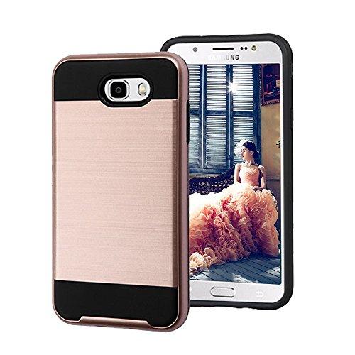 Slim Fit Hybrid Case for Samsung J7 (Grey/Red) - 5