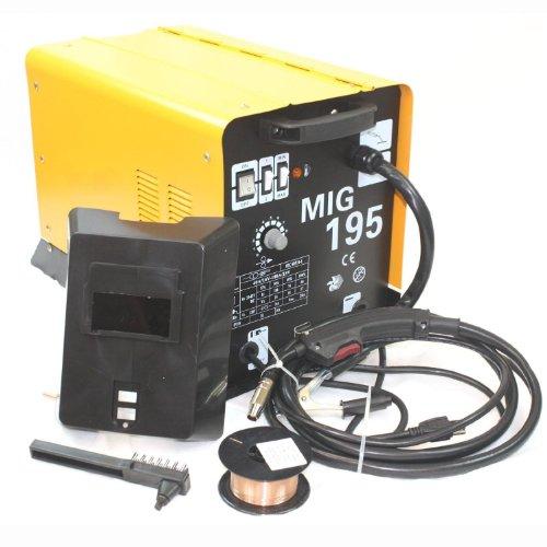 190AMP MIG 195 220V Flux Core Welding Machine Gas No Gas Welder Auto Wire Feed