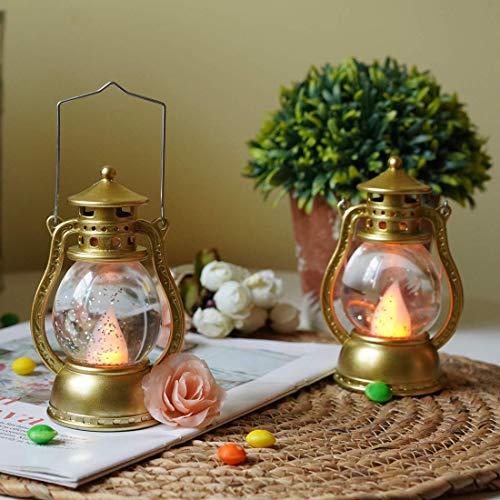 Shallylu 2Pcs LED Candle Lantern Lights, Decorative Candle Lanterns Vintage Flameless LED Lanterns Water Glitter Christmas Halloween Wedding Patio Pathway Garden Decor Outdoor&Indoor Hanging Lantern]()