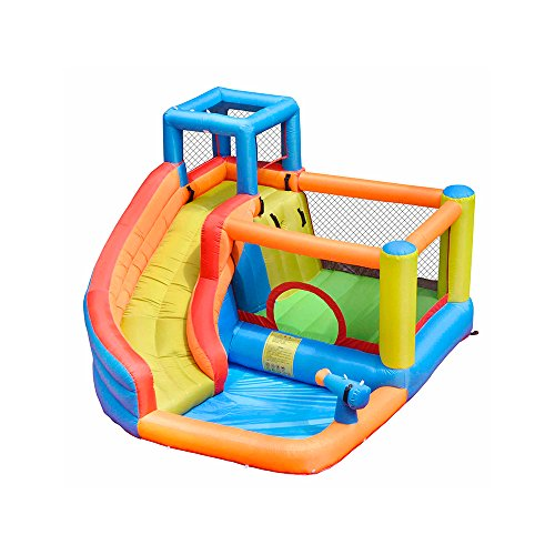 Doctor Dolphin Inflatable Bounce Slide House Jumper Water Slide Park Combo for Kids Outdoor Party with Air - Combo Bouncer
