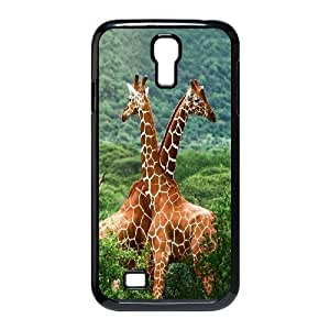 Giraffe and sunset Design Pattern Hard Skin Back Case Cover Potector For For Samsung Galaxy S4 Case FKGZ426078