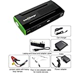 InteliCharge Multi-Function Car Power Bank 13600mAh Jump Starter Charger Portable Power with FREE tire compressor (GREEN)
