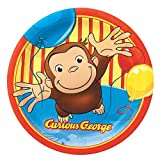 Curious George Paper Lunch Plates, 8ct, Health Care Stuffs