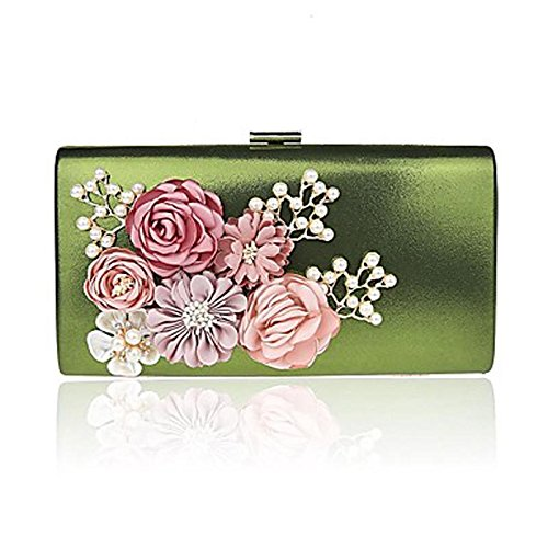 KYS Bolso de mano del bolso de mano de la cena del banquete del banquete de lujo de las flores hechas a mano de Corea del Sur de la mujer de: Amazon.es: ...
