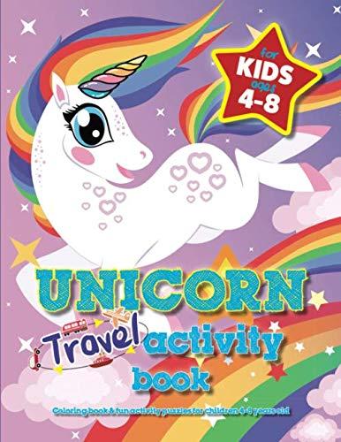 Unicorn Travel Activity Book For...