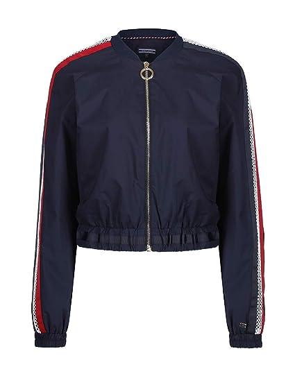 8ba0d64c240 Tommy Hilfiger Roberta Bomber Womens Jacket Medium Midnight  Amazon.co.uk   Clothing