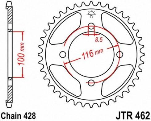 JT Pi/ñones jtr462.51/51T Acero Corona Trasera