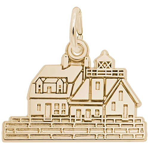 (Rembrandt Charms Rockland, Maine Lighthouse Charm, 10K Yellow Gold)
