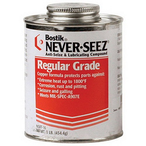 Never-Seez NSBT-8 Silver/Gray Regular Grade Anti Seize Lubricating Compound, 8 oz Can Brush Top