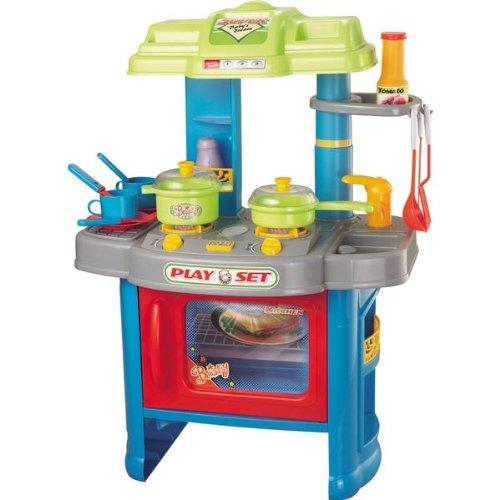 Spielküche Kinderküche Kinder Herd Küche 29 Teile 60cm Backofen ...