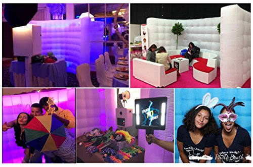 Photo Booth Backdrop Wall - Inflatable Portable Photography Backdrops with LED Changing Lights for Birthday, Graduation,Wedding,Parties (9.8x6.6ft) by SUNSHINAE (Image #1)