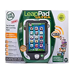 LeapFrog LeapPad Ultra/Ultra XDI  Kids\' Learning Tablet, Green (styles may vary)(Discontinued by manufacturer)