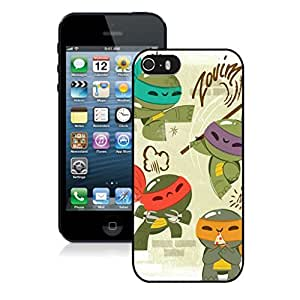 New Unique DIY Antiskid Skin Case For Iphone 5S baby mutant ninja turtles iPhone 5s Black Phone Case 026