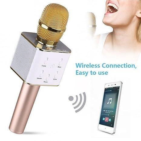 FUTURE ELECTRONIC Micrófono Inalámbrico de Bluetooth Karaoke ...
