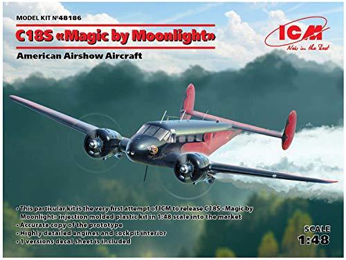 ICM 1/48 Beechcraft C18S Magic by Moonlight American air Show Aircraft Plastic Model 48186 - Miniature Aircraft Usa