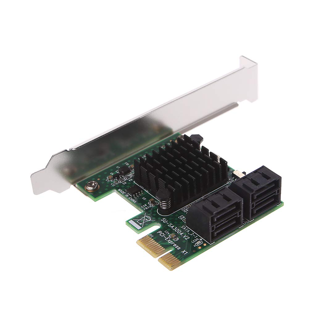 Amazon.com: PCI-E PCI Express 1x to 4-Port Sata 3.0 III 6G ...