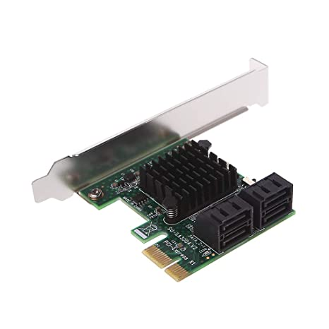 Amazon.com: RingBuu PCI-E PCI Express 1x to 4-Port Sata 3.0 ...