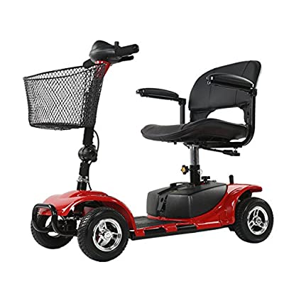 ENGWE Scout Compact Travel Power Scooter, Heavy Duty 4 Wheel 10 Mile Long Range, Extended Battery