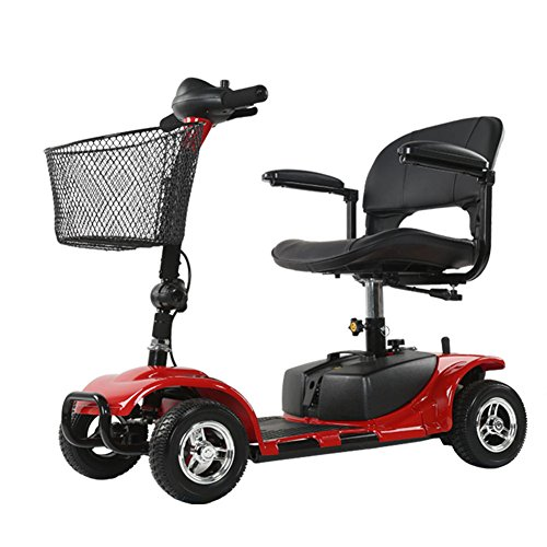 - ENGWE Scout Compact Travel Power Scooter, Heavy Duty 4 Wheel 10 Mile Long Range, Extended Battery