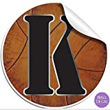 "Wall Decals Letter "" K "" Basketball Baby Name Decal Stickers Decorative Letter Alphabet Sports Decor - Children's Room, Baby's Nursery, Boy's Bedroom, Kid's Playroom by Bugs-n-Blooms"