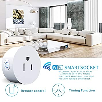 MaximalPower Smart Plug Wi-Fi Enabled Mini Outlet Compatible with Alexa Google Home, No Hub Required, WiFi Remote Control your Devices from Anywhere Timing Function Switch with Free Microfiber Cloth