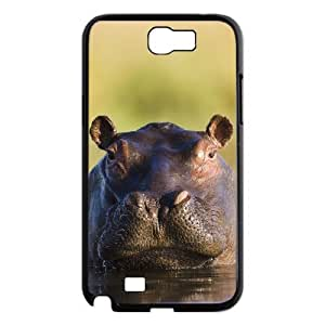 LZHCASE Diy Design Back Case Hippo for Samsung Galaxy Note 2 N7100 [Pattern-1]