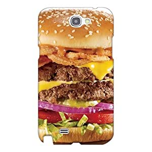 Great Hard Cell-phone Cases For Samsung Galaxy Note 2 (xOs7938GhqM) Provide Private Custom Fashion Meat And Barbecue Very Thick Hamburger Skin