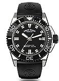 Armand Nicolet Men's Diver Automatic Watch Black with Rubber Bracelet JS9 A480AGN-NR-GG4710N