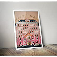 Minimalist Grand Budapest Hotel Poster, Grand Budapest Hotel minimalist prints, Wes Anderson home decor, All Prints avialable in 9 SIZES and 3 type of MATERIALS