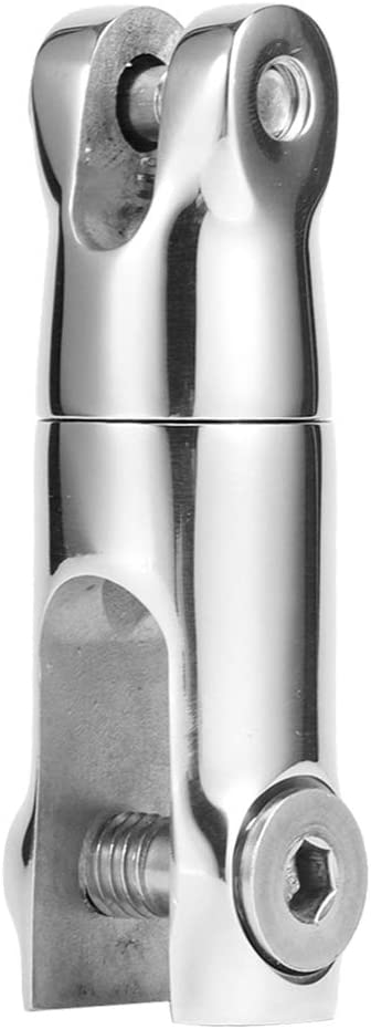 Ladieshow Conector Giratorio de Ancla de Barco Accesorio de Barco de Acero Inoxidable para Barco de Mano para Cadena de 6‑8 mm