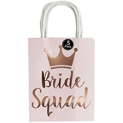 096f440f0d65 Eurowrap Baby Pink Bride Squad Paper Gift Bags - Pack of 5  Amazon.co.uk   Kitchen   Home