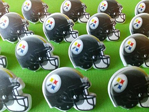 NFL Pittsburgh Steelers Football Helmet Cupcake Rings - 24 pcs by Bakery Supplies